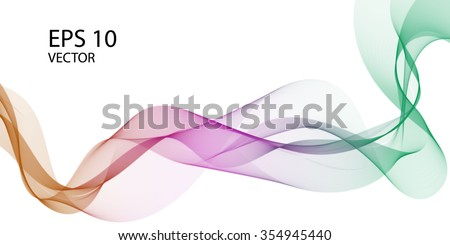 Curve vector color wave abstract background for banner