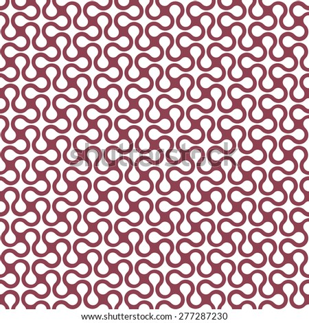 Curved geometric simple seamless pattern. Vector background - stock vector