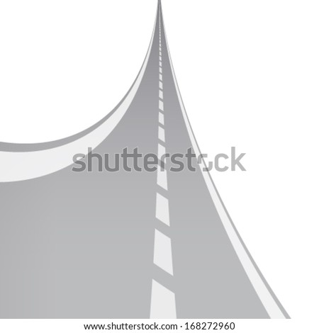 Curved road - stock vector