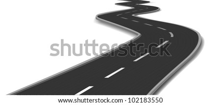 Curved road. Vector - stock vector
