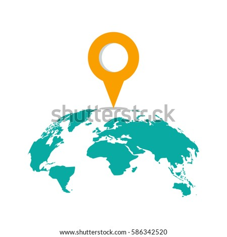 Curved travel map marker location on stock vector 586342520 curved travel map marker location on a global map flat vector illustration gumiabroncs Image collections