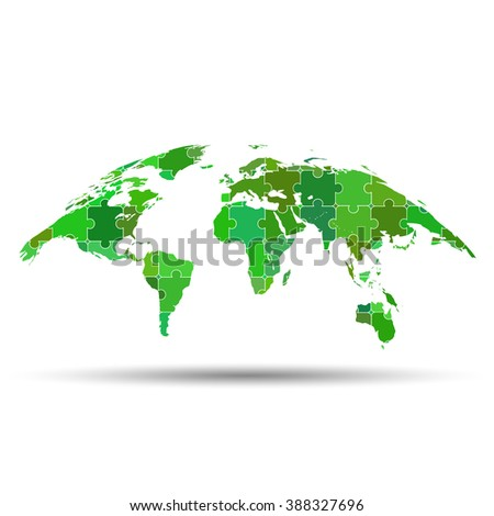 Curved world map puzzle stock vector 388327696 shutterstock curved world map puzzle gumiabroncs Choice Image