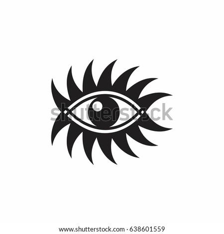 Curves Art Form One Eye Symbol Stock Vector 2018 638601559