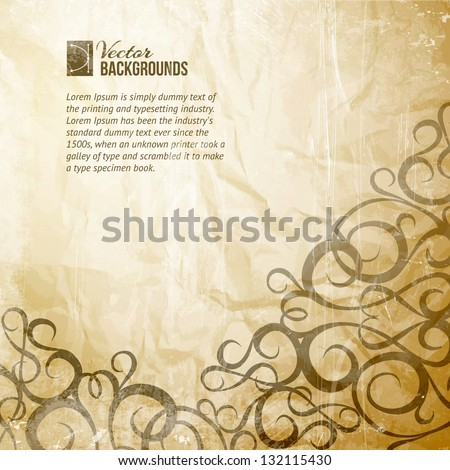 Curves Vintage Background. Vector illustration, contains transparencies. - stock vector