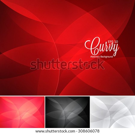 Curvy abstract background - stock vector