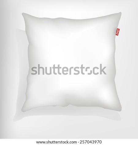 cushion with space for logo and shadow, white, vector