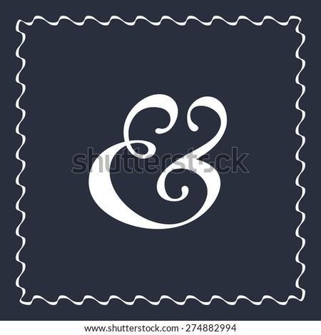 Custom ampersand symbol for wedding invitation decoration. Vector illustration - stock vector