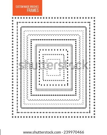 Custom Made Brushes Frames Stock Vector 239970466 - Shutterstock