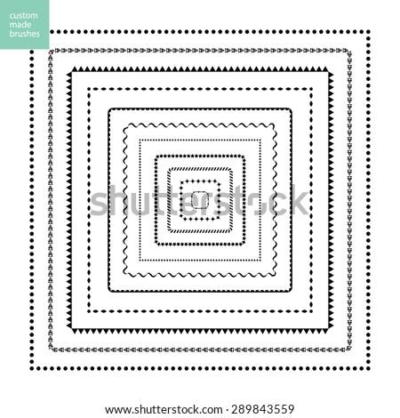 Custom Made Brushes Frames Square Stock Vector 289843559 - Shutterstock