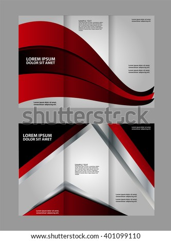 Custom Trifold Brochure Template Works Great Stock Vector 401099110