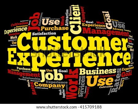 Customer Experience word cloud, business concept background - stock vector