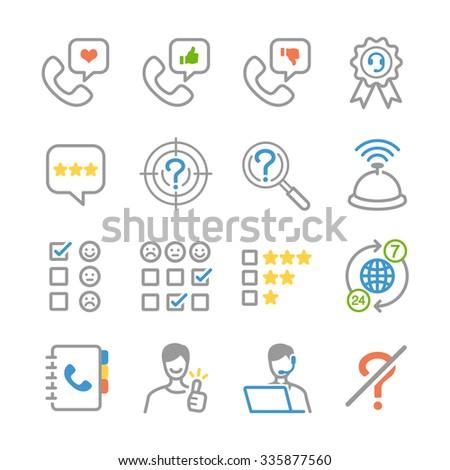 Customer feedback icons - stock vector