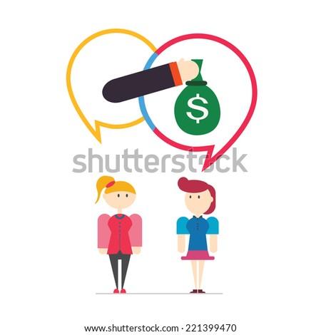 Customer feedback,speech bubbles,vector,illustration. - stock vector