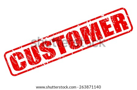 Customer red stamp text on white - stock vector