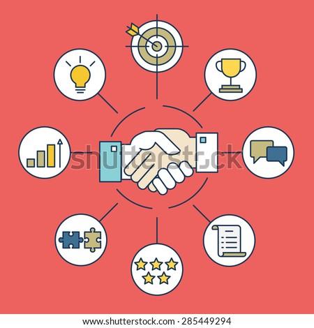 Customer Relationship Management - vector illustration - stock vector