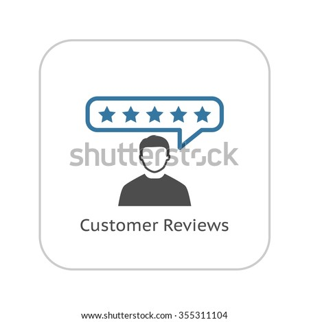 Customer Reviews Icon. Flat Design. Business Concept. Isolated Illustration.