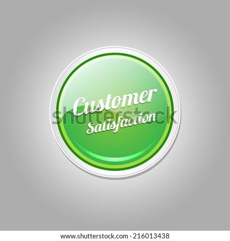Customer Satisfaction Green Vector Icon - stock vector