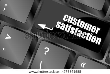 customer satisfaction key word on computer keyboard vector - stock vector