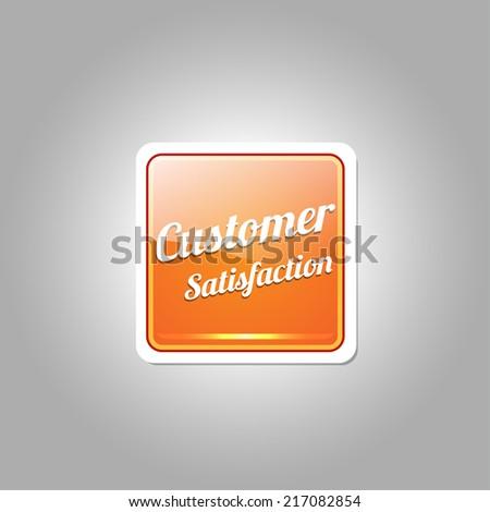 Customer Satisfaction Orange Vector Icon - stock vector