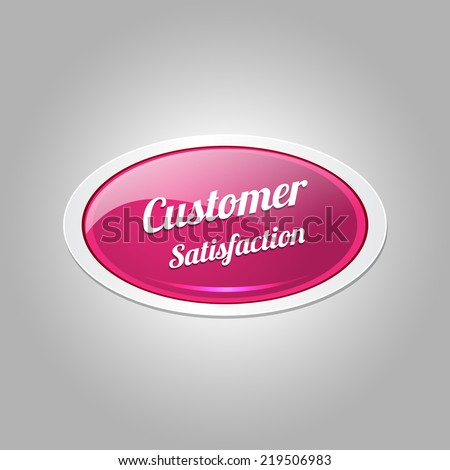 Customer Satisfaction Pink Vector Icon Button