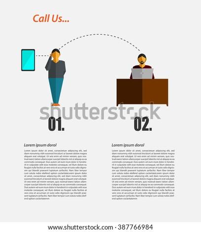 Customer service concept - stock vector