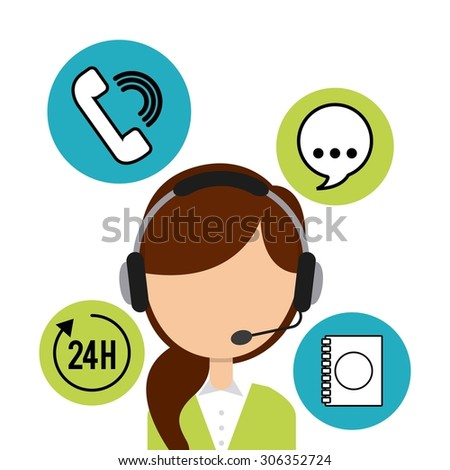 customer service design, vector illustration eps10 graphic  - stock vector