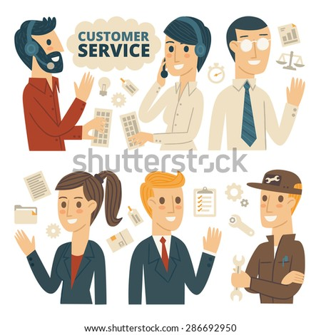Customer Service, Infographic Elements - stock vector