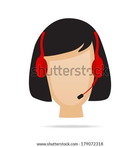 Customer Service Support Illustration - stock vector