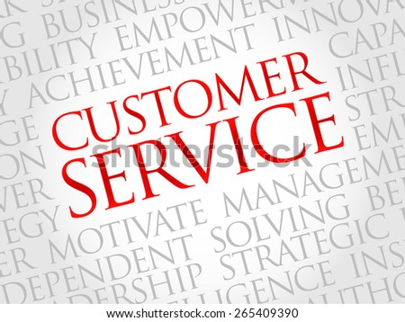 Customer Service word cloud, business concept - stock vector