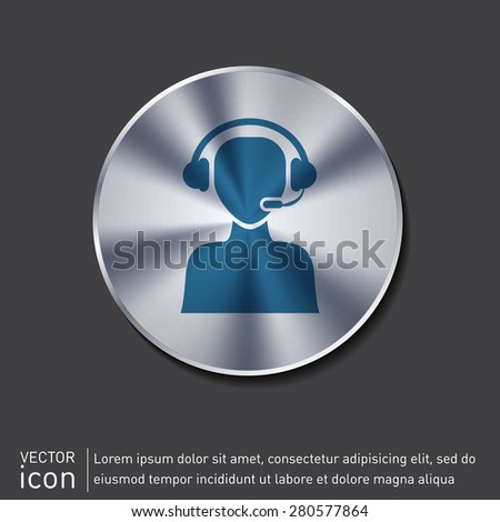 customer support avatar - stock vector