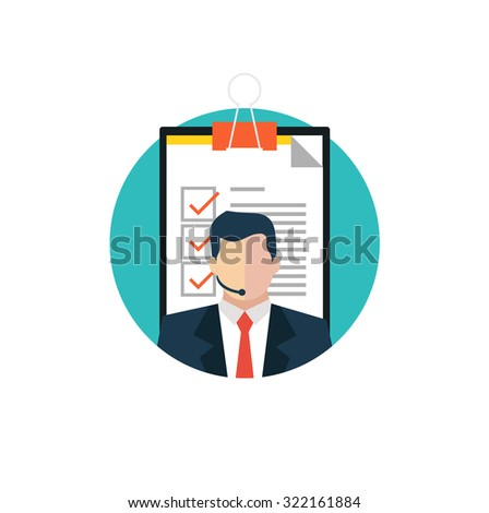 Customer support service concept - stock vector