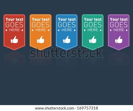 Customizable Vector Appreciate Badges - stock vector