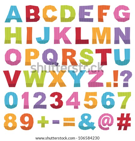 Alphabet Letters Ellipses Intersection Logo Abstract Stock Vector ...