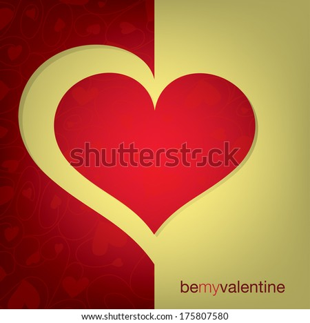 Cut out heart card in vector format. - stock vector