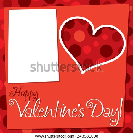 Cut out retro Valentine's Day card in vector format. - stock vector