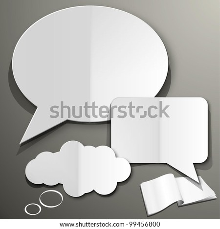 Cut Out Speech Bubble