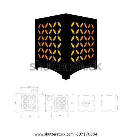 Die Cut Card Laser Cut 33 Stock Vector 634643966