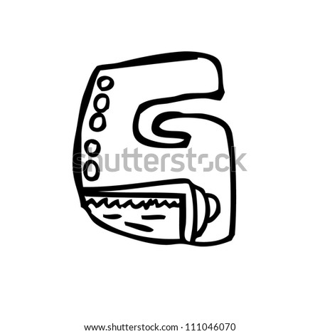 cute alphabet - stock vector