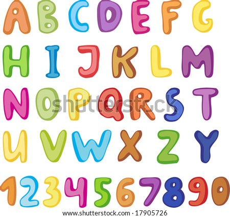 Cute alphabet and numbers.