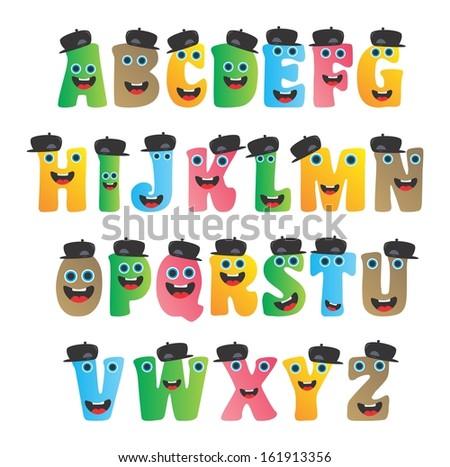 Cute alphabet monster set stock vector 161913356 shutterstock cute alphabet monster set thecheapjerseys Gallery