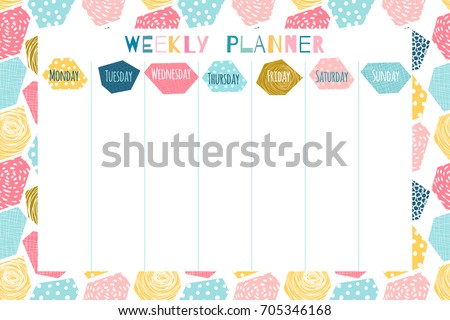 Weekly Planner Stock Images Royalty Free Images Amp Vectors