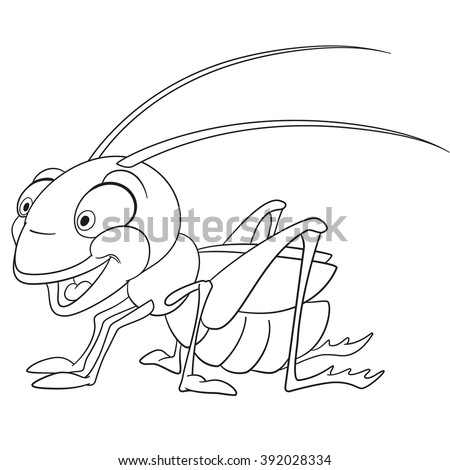 Locust cartoon stock images royalty free images vectors for Locust coloring page