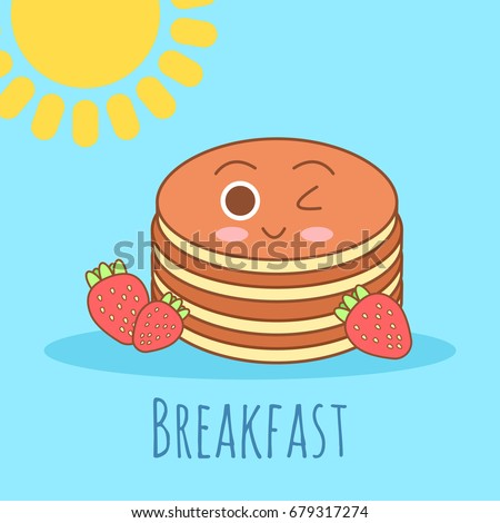 Cute and simple vector frame illustration with omelet, olive oil, eggs, milk, salt, onion, mushrooms, tomato, bell pepper and hearts. Funny summer colorful illustration.