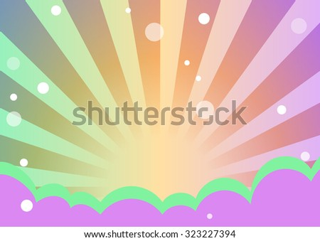 cute and sweet rainbow beam presentation background