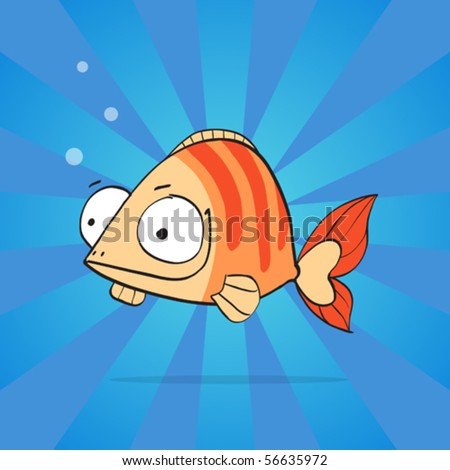 cute anemone fish - stock vector