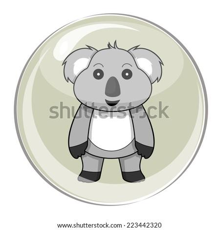 cute animal pet puppy koala with bubble vector - stock vector