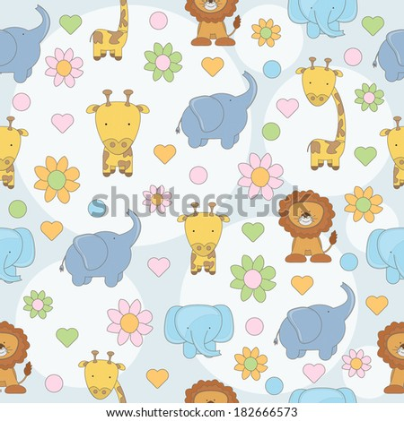 cute animal seamless