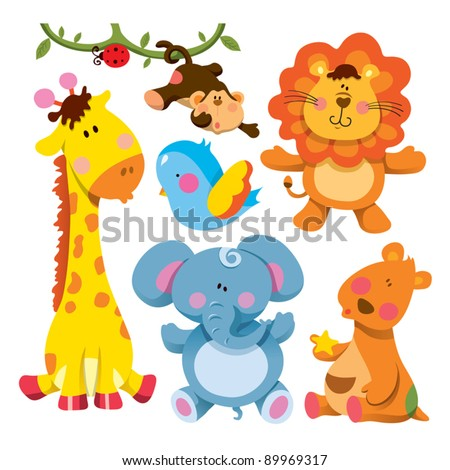 Cartoon animals stock images royalty free images vectors cute animals collections voltagebd Gallery