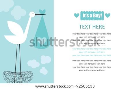 Birth Announcements Photos RoyaltyFree Images Vectors – Cute Baby Boy Announcements