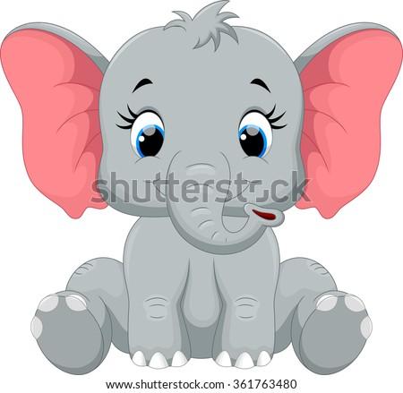 Cute baby elephant cartoon - photo#24
